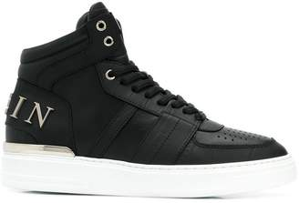 Philipp Plein lace-up hi-top trainers