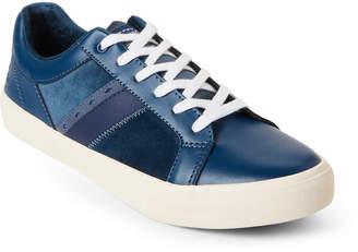 Original Penguin Dark Teal Bruce Leather Low-Top Sneakers