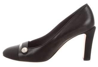 Chanel Leather Cap-Toe Pumps