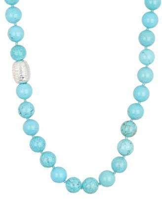 Simon Sebbag Sterling Silver Turquoise Magnesite Bead Necklace
