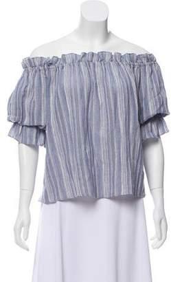 LoveShackFancy Off-The-Shoulder Short Sleeve Top