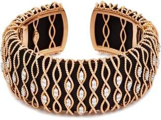Roberto Coin 'Barocco' diamond 18k rose gold cuff