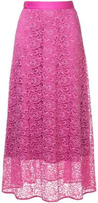 H Beauty&Youth floral lace skirt