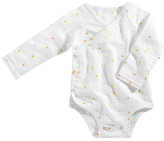 Aden Anais aden + anais Long Sleeve Kimono Body Suit Girl's Jumpsuit & Rompers One Piece