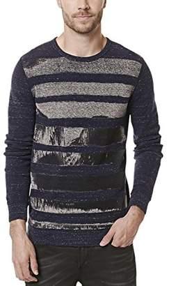 Buffalo David Bitton Men's Kisports Long Sleeve Crew Neck Fashion Knit Shirt
