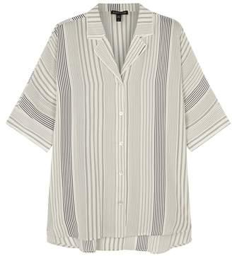 Eileen Fisher Striped Silk Crepe Shirt