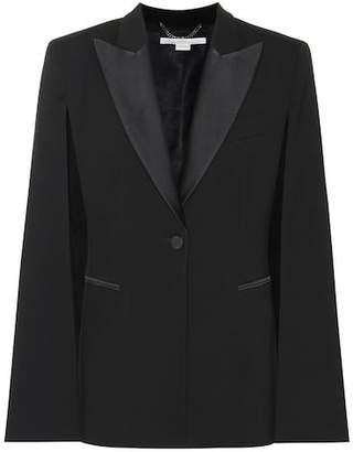 Stella McCartney Wool cape blazer