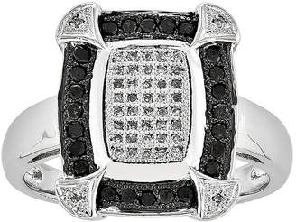Black Diamond FINE JEWELRY 1/3 CT. T.W. White and Color-Enhanced Square Ring
