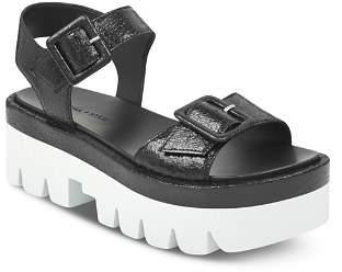 KENDALL + KYLIE Women's Wave Leather Platform Ankle Strap Sandals