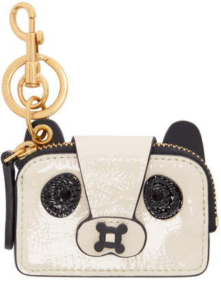 Anya Hindmarch Black and White Coin Purse Panda Keychain