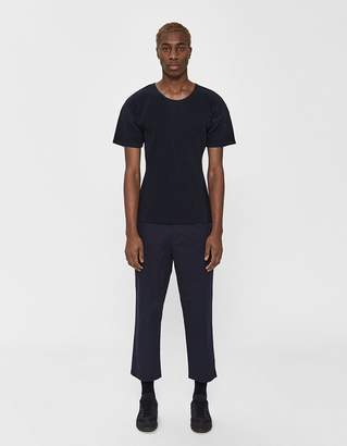 Issey Miyake Homme Plissé S/S Basics Poly Tee in Navy