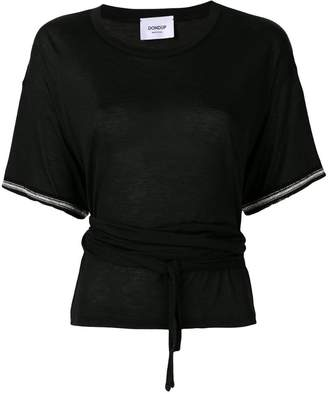 Dondup embroidered cuff belted T-shirt