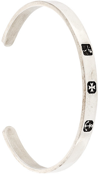 Andrea D'Amico Andrea D'amico embossed symbols bracelet