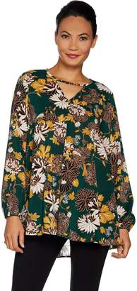 Du Jour Floral Printed Long Sleeve Tunic