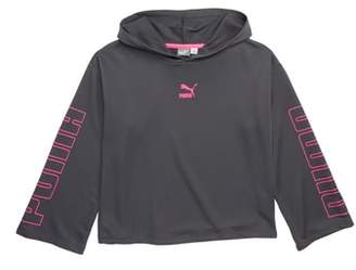Puma Cropped Pullover Hoodie