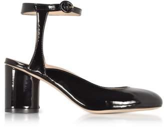 Stuart Weitzman Shape Black Patent Leather Heel Pumps