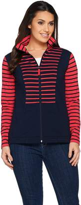 Susan Graver Weekend French Terry Zip Front Jacket