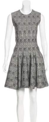 Alaia Wool-Blend Fit & Flare Dress