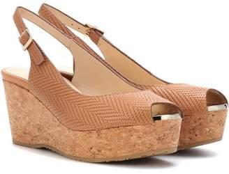 Jimmy Choo Praise leather wedge sandals