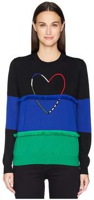 Paul Smith Heart Color Block Sweater Women's Sweater
