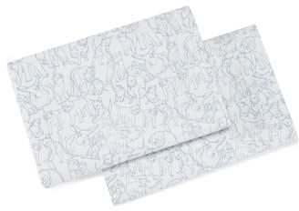 ED Ellen Degeneres Sketched Animals Pillowcases