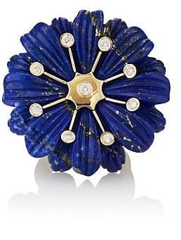 Lapis Brent Neale Women's Wildflower Lazuli Ring - Blue