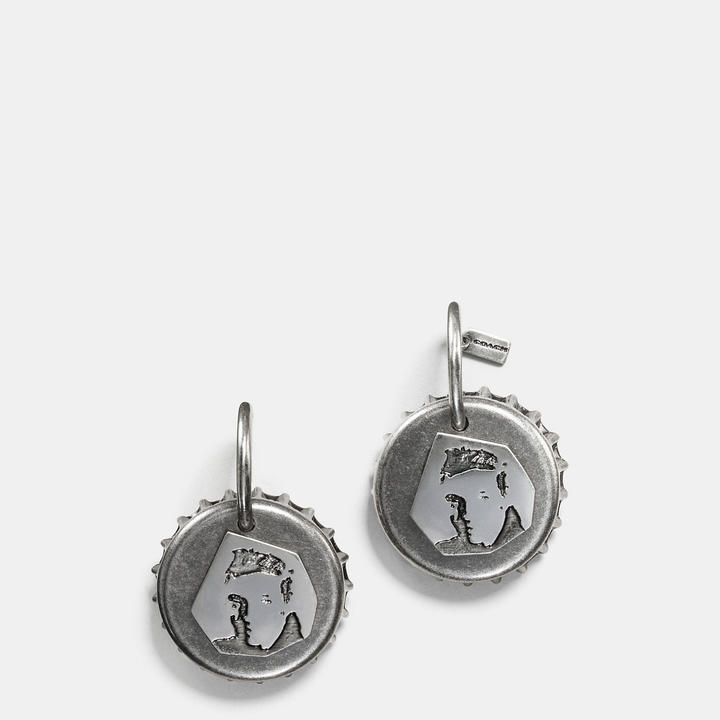 Coach   COACH Coach Elvis Bottle Cap Earring