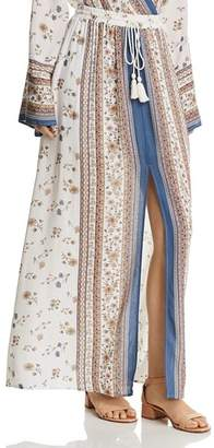 Lost and Wander Lost + Wander Tulum Printed Slit Maxi Skirt