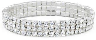 VIESTE ROSA Vieste 3-Row Stretch Rhinestone Bracelet