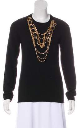 Tory Burch Long Sleeve Cashmere Top