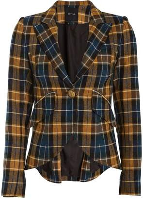 Smythe Plaid Elbow Patch Blazer