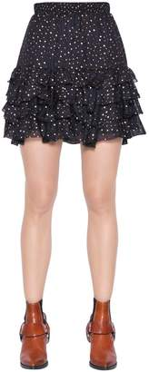 Just Cavalli Polka Dots Printed Silk Georgette Skirt