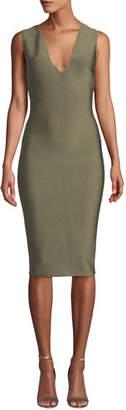 Solange Misha V-Neck Knitted Bodycon Cocktail Dress