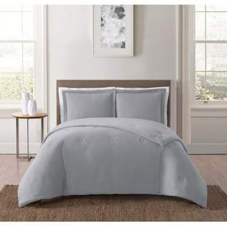 Truly Soft Everyday Solid Jersey Grey Full / Queen Comforter Set