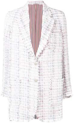 Thom Browne Ribbon Tweed Narrow Sack Jacket