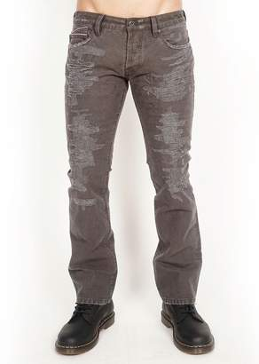 Cult of Individuality Rebel Distressed Straight Fit Jeans