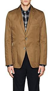 Officine Generale MEN'S 375 WOOL TWILL TWO-BUTTON SPORTCOAT-LT. BROWN SIZE 52 EU