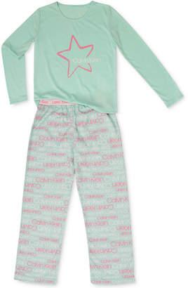 Calvin Klein Big Girls 2-Pc. Terry Pajamas Set