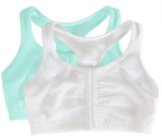 Fruit of the Loom Women's Front Close Racerback Sport Bra, Style FT390, 2-Pack