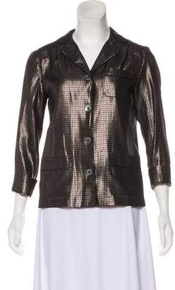Marc Jacobs Silk Houndstooth Top