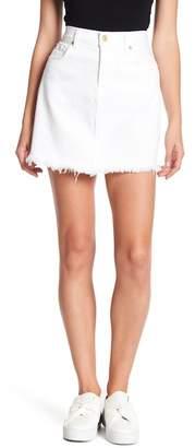7 For All Mankind A-Line Denim Mini Skirt