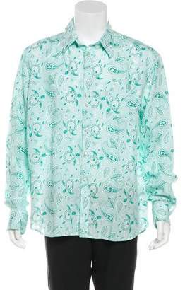 Vilebrequin Paisley Print Linen Shirt