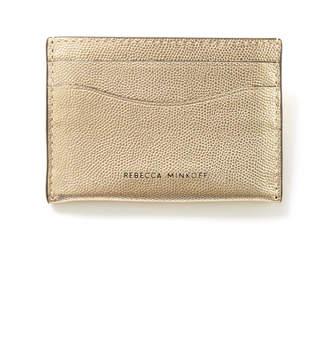 Rebecca Minkoff Gold Card Case Gold 1 Size