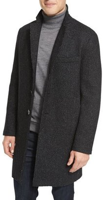 Michael Kors Wool-Blend Knit Crombie Coat $595 thestylecure.com