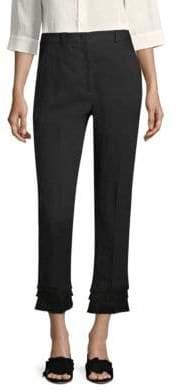 Max Mara Acacia Fringe-Cuff Trousers
