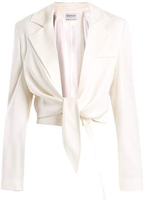Osman Bette tie-waist wool-blend jacket
