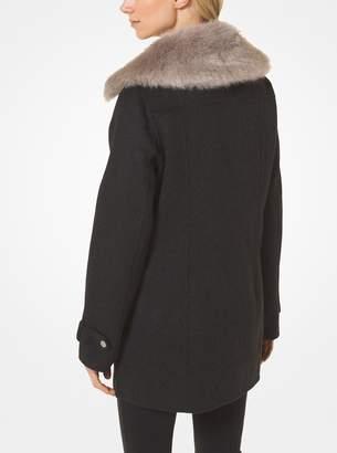 MICHAEL Michael Kors Wool-Blend and Faux Fur Coat