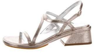 Dries Van Noten Metallic Sandals w/ Tags