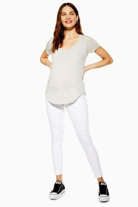 Topshop Womens **Maternity Under The Bump Jamie Jeans - White