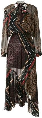 Preen Line multi-print asymmetric dress